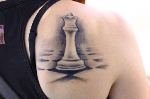 Queen Chess Piece Tattoo